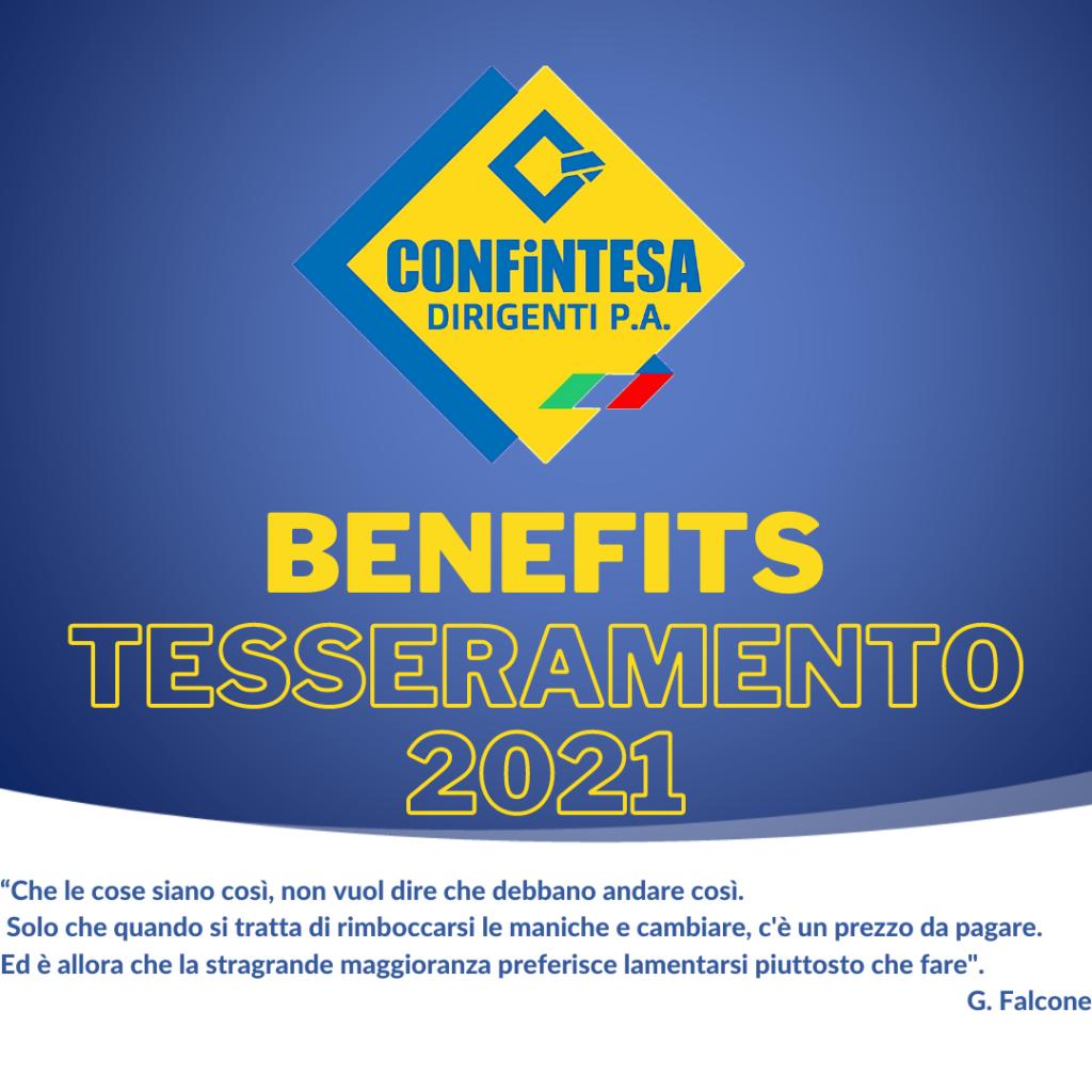 BENEFITS TESSERAMENTO 2021